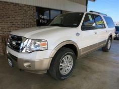 2013 Ford Expedition ElXlt King Ranch SUV 4 Doors White Platinum Metallic Tri-Coat for sale in Sealy, TX http://www.usedcarsgroup.com/sealy-tx/2013-ford-expedition-1fmjk1j57def05844.html