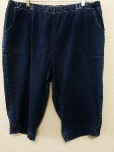 "17.78$  Buy here - http://visfo.justgood.pw/vig/item.php?t=kqkt3d12325 - Croft & Barrow Womens Stretch Capris Blue Denim Jean 18W with 16"" Inseam"
