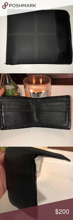 Burberry Wallet In good condition only damage is the little crack on the middle fold, pictured above Burberry Bags Wallets