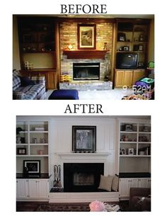 10 Enhancing Cool Ideas: Living Room Remodel Ideas Tutorials small living room remodel with fireplace.Living Room Remodel Before And After Projects livingroom remodel how to build.Living Room Remodel With Fireplace Floor Plans. Fireplace Update, Fireplace Built Ins, Brick Fireplace Makeover, Home Fireplace, Fireplace Remodel, Fireplace Ideas, Farmhouse Fireplace, Fireplaces, Fireplace Outdoor