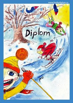 diplom zima lyžování Winter Art, Art For Kids, Harry Potter, Sd, Art Ideas, Painting, Children, Art For Toddlers, Art Kids