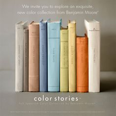 color stories - new full spectrum color collection from Benjamin Moore #paint