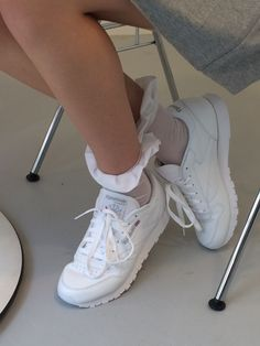 Reeboks and frilly socks at the This Is The Uniform SS16 Fashion East presentation during London Fashion Week got a YES from us