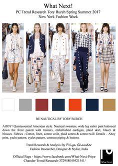#ToryBurch #ToryBurchSS17 #SS17 #NYFW #nautical #ahoy #navublue #white #womenswear #Americanstyle #fashionresearch #fashionindustry #fashionweek #moda #plaid #cotton #linen #printedtops #Malibu #Manhattan #TheWhitneyMuseum #AmericanArt #priyachander #sailortrousers #fashiontrends #tedencias #TimBlanks #runway #spring2017 #trainers #voile #prints