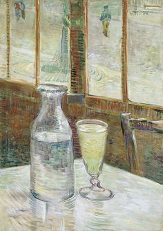 """""""Cafe Table with Absinth"""" Van Gogh, 1881"""