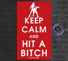 Roller Derby Sticker Keep Calm and Hit a by blacksheepclothing, $3.00