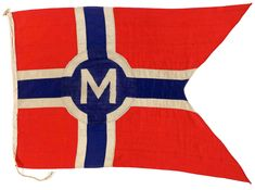 House flag, Monarch Steam Ship Co. Ltd - National Maritime Museum
