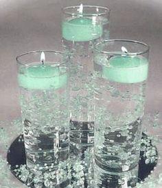 lovely aqua candles