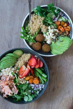 Puff maling - sjov maling til børnene - Helt op til månen Veggie Recipes, Great Recipes, Healthy Recipes, Salat Bowl, Clean Eating, Healthy Eating, Healthy Fit, Food Porn, Bowls
