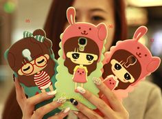3d Cute Little Girl silicon Soft cases Quality Cover for Galaxy S5 S3 S4 Note 2 Note 3 - Samsung Galaxy Note 3 Cases