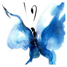 Butterfly Song 14... Original abstract watercolor art ooak painting by... ($50) ❤ liked on Polyvore