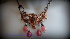 Old Rose Ox Leaves Filigree Necklace with by Objectsandoddities, $42.00 https://www.etsy.com/shop/Objectsandoddities
