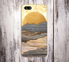 Golden Sun Rays Layered Printed Wood Case, iPhone 6, iPhone 6 Plus, Tough iPhone Case, Galaxy S7, Samsung Galaxy Case Note 5, CASE ESCAPE