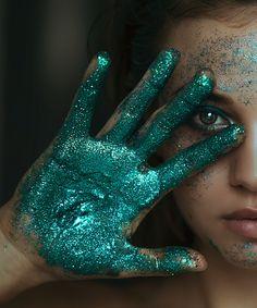makeup artist portrait photography Glitter is the new black .