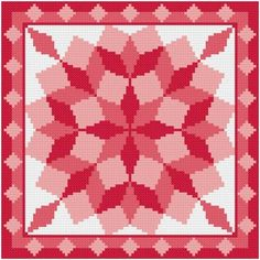 Round Tumbling Blocks - cross stitch pattern designed by Susan Saltzgiver. Cross Stitch Geometric, Geometric Quilt, Cross Stitch Art, Cross Stitching, Cross Stitch Embroidery, Cross Stitch Patterns, Tumbling Blocks Quilt, Quilt Blocks, Needlepoint Patterns