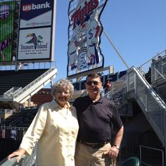 Bill & Margaret at Target Field on Mothers day.