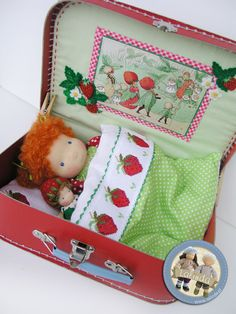 Masha and her strawberry doll by Lalinda.pl