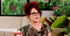"""Megan Mullally: """"I have not had any plastic surgery. Nothing at all. He [husband Nick Offerman] is very much opposed to it. He tells me every day that I'm beautiful and sexy which is very nice. But one time I was depressed... and I said 'you know, maybe I will have a little something done' and he has always said if I had anything done he would divorce me and he said 'if you have something done I really will divorce you because that would mean you're not the person I always thought you…"""