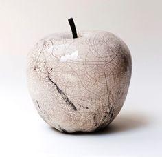 pomme en raku blanc