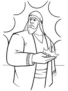 Alphabetical list of about 200 Bible lesson coloring pages!