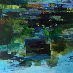 Abstract painting, oil on canvas, 100 x 100 cm, Bjørnar Aaslund, 2015