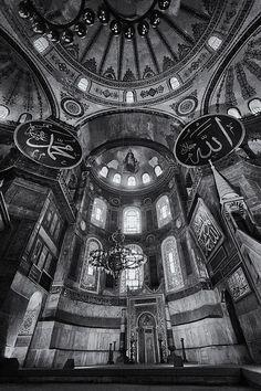 Title  Hagia Sophia Interior - Bw   Artist  Stephen Stookey   Medium  Photograph - Photography