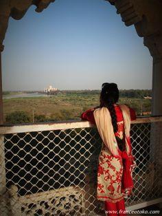タージマハル Agra fort view