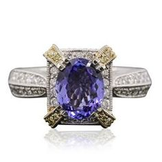 18KT Two-Tone Gold 1.69ct Tanzanite and Diamond Ring - Longfellow Auctions