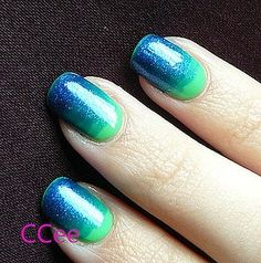 Beach-colored Ombre Nails