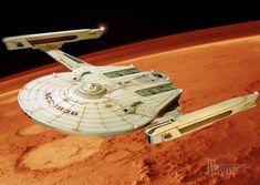 U.S.S. Peregrine NCC-1936 - Federation Starship design similar to a Romulan Bird of Prey