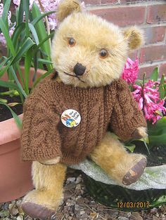 "Vintage Chiltern Hugmee Bear 1940's "" Tuffy ""  Photo via Ebay"