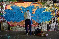 graffiti yarn bomb