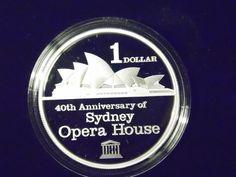 Sydney Opera House 40th Anniversary, 1 oz Silver