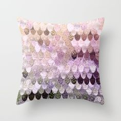 Beautiful scales .... mermaid scales in lovely gold, pink, copper and rosegold tones !SUMMER MERMAID MOONSHINE GOLD Throw Pillow by Monika Strigel $20