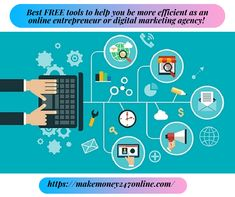 There are lots of free online marketing tools to help you succeed as an online entrepreneur, we've analysed many and recommend these Online Marketing Tools, Digital Marketing, Way To Make Money, Make Money Online, Online Entrepreneur, Free