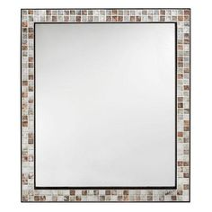 Home Decorators Collection Briscoe 32.5 in. L x 28 in. W Wall Mirror in Espresso Marble Tile Frame-0416810820 - The Home Depot