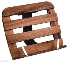 acacia wood recipe book holder horizontal acacia bamboo wood kitchenware