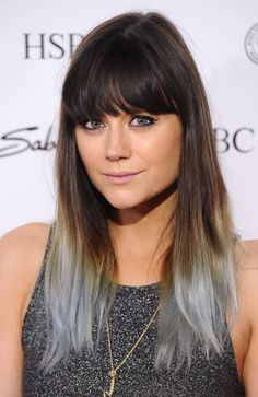Lilah Parsons Goes Grey Gracefully with Dip-Dyed Lengths - Celebrity hair