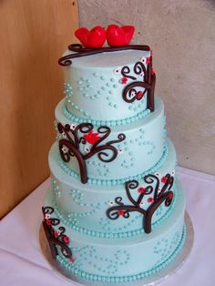 Bird in love cake <3