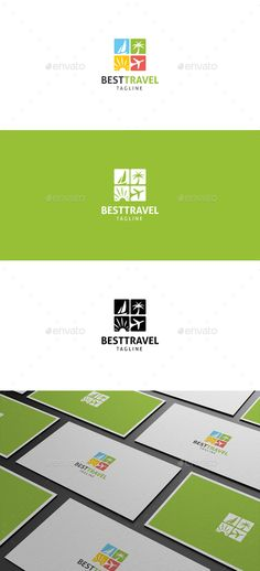 Best Travel Logo — Vector EPS #traveling #nature • Available here → https://graphicriver.net/item/best-travel-logo/18293934?ref=pxcr