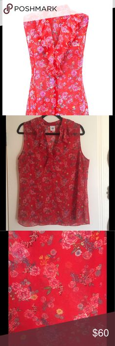 """CAbi """"Crush Top""""- Like New!! Perfect condition- worn twice! CAbi Spring 2017 collection. Heart of CAbi charitable collection.  Flattering fit and a great pattern for summer! CAbi Tops Blouses"""