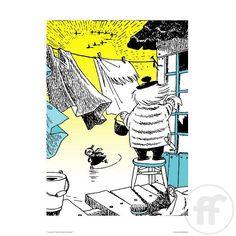 Muumi Tuutikki-juliste, värillinen (50x70 cm) Tove Jansson, Winter Christmas, Scandinavian Design, Finland, Comic Art, Illustrators, Fairy Tales, Creative, Prints