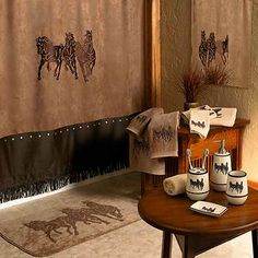 Horse Themed Home Design Bathroom