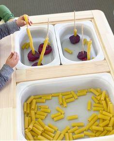 Sensory Play Tray Ideas For The Ikea Flisat Table Ideas & Inspo Toddler Sensory Bins, Sensory Activities Toddlers, Baby Sensory, Toddler Play, Sensory Play, Montessori Toddler, Trofast Ikea, Table Ikea, Lego Table