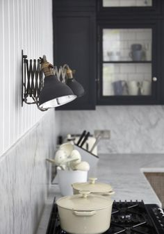 London VIctorian Foxgrove House Vintage Lights | Remodelista
