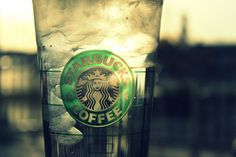 coffee, ice, starbucks