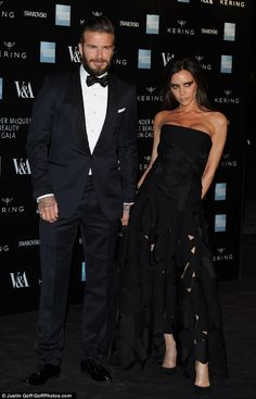 Beckhams put in fashionable appearance at McQueen gala #dailymail