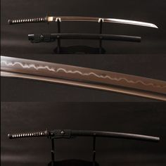 Ambhom Clay Tempered Steel Katana Samurai Sword