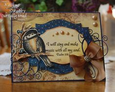 It's time for a new Shining the Light Challenge at Our Daily Bread Designs ! This week's challenge: Something Musical . Penny Black, Magenta, Crazy Bird, Our Daily Bread, Candy Cards, Beautiful Handmade Cards, Bird Cards, Animal Cards