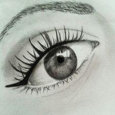 Charcoal eye drawing by K. Vanderwill